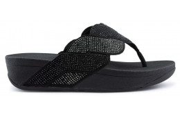 FITFLOP PAISLEY ROPE TOE STRONG Sandales BLACK