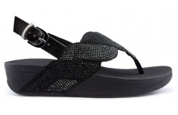FITFLOP PAISLEY ROPE BACK STRAP Sandales BLACK